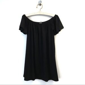 ASOS Tunic size 8 Off Shoulder Black Top Shirt